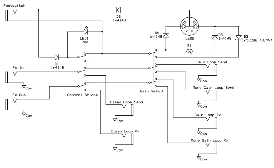 DIAGRAM] Wiring Diagram Guitar Amp Footswitch FULL Version ... on