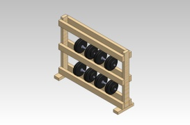 Dumbbell rack weight stand for Homemade weight rack plans